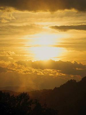 Blue Photograph - Sunset - Blue Ridge Mountains by Photographic Arts And Design Studio