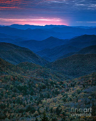 Photograph - Sunset - Blue Ridge Parkway 2006 by Matthew Turlington