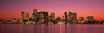Reflections In Water Photograph - Sunset Boston Ma by Panoramic Images