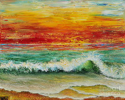 Sunset Breeze Art Print by Teresa Wegrzyn