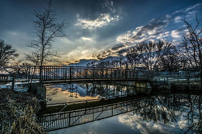 Photograph - Sunset Bridge 2 by Randy Scherkenbach