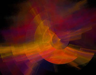 Bright Digital Art - Sunset Burst by Betsy Jones