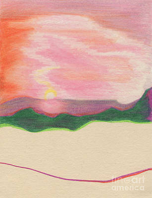 Nature Abstract Drawing - Sunset By Jrr by First Star Art