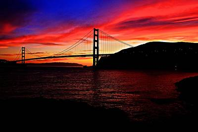 Art Print featuring the photograph Sunset By The Bay by Dave Files