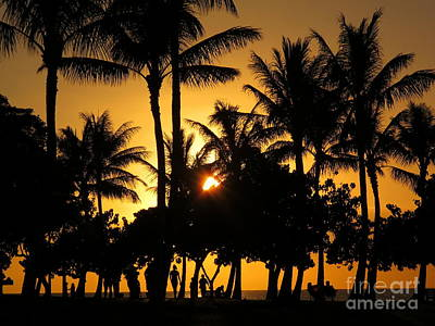 Sunset By The Beach Art Print