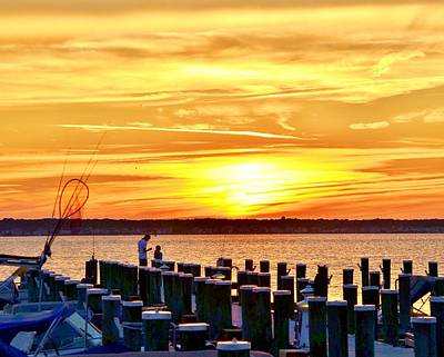 Photograph - Sunset By The Dock by Kim Bemis