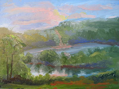 Palo Cedro Painting - Sunset By The Lake by Patricia Kimsey Bollinger