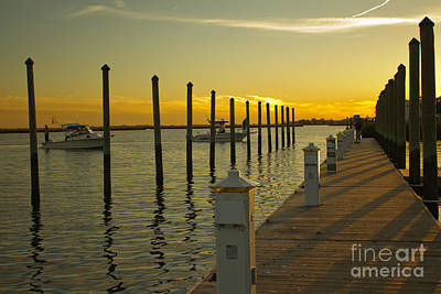 Art Print featuring the photograph Sunset By The Marina One by Jose Oquendo