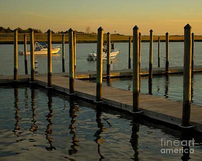 Art Print featuring the photograph Sunset By The Marina Two by Jose Oquendo