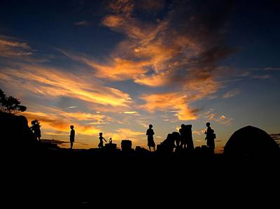 Captwolf96 Photograph - Sunset Camp by Donnie Freeman