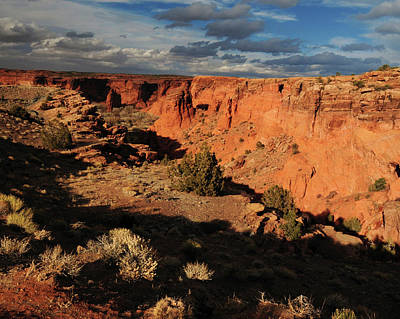 Sunset, Canyon De Chelly, Arizona, Usa Art Print