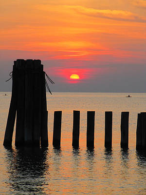Photograph - Sunset Cape Charles 3 by Richard Reeve