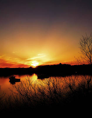 Photograph - Sunset Cape Porpoise Me by Ann Tracy