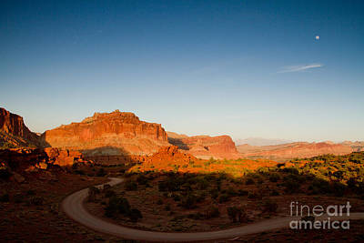 Photograph - Sunset Capital Reef National Park by Butch Lombardi