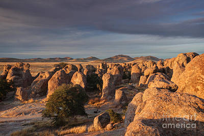 Print featuring the photograph Sunset City Of Rocks by Martin Konopacki
