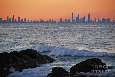 Photograph - Sunset Cityscape Horizon by Ankya Klay
