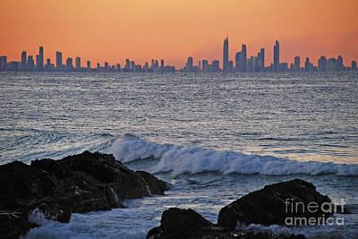 Photograph - Sunset Cityscape Horizon by Ankya Klay