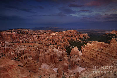 Photograph - Sunset Clearing Storm Silent City Hoodoos Bryce Canyon National Park by Dave Welling