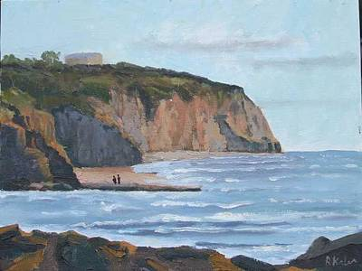 Sunset Cliffs Ca Art Print by Raymond Kaler
