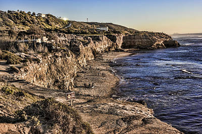 Digital Art - Sunset Cliffs Natural Park by Photographic Art by Russel Ray Photos