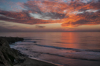 Photograph - Sunset Cliffs Sunset 2 by Lee Kirchhevel
