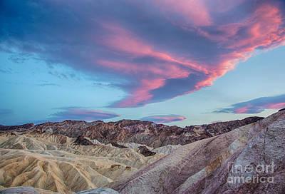 Sunset Photograph - Sunset Cloud Over Zabriskie Point by Mimi Ditchie