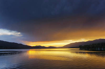 Whitefish Photograph - Sunset Clouds Over Whitefish Lake by Chuck Haney