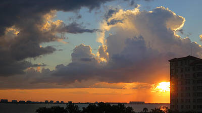 Photograph - Sunset Shower Sarasota by Richard Goldman