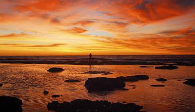 Sunset Coast Art Print by Niel Morley