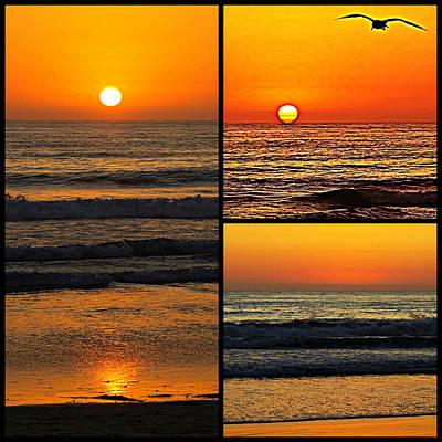 Sunset Collage Art Print by Sharon Soberon