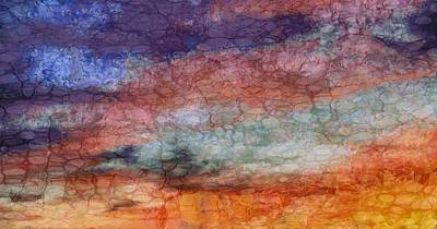 Abstract Sunset Mixed Media - Sunset Colors by Dan Sproul