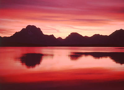 Photograph - T-109206-sunset Colors On Jackson Lake by Ed  Cooper Photography