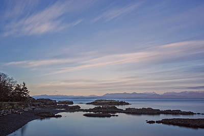 Photograph - Sunset Colours Over The Salish Sea by Inge Riis McDonald