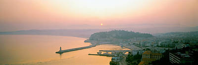 Cote Dazur Photograph - Sunset Cote Dazur Nice France by Panoramic Images