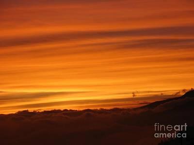 Sunset - Coucher De Soleil - Plaine Des Cafres - Ile De La Reunion - Reunion Island - Indian Ocean Art Print by Francoise Leandre