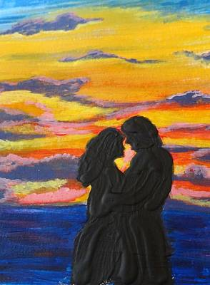 Sunset Couple Art Print