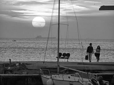 Sunset Couple Original by Recep Suha Selcuk