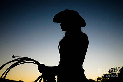 Beautiful Western Women Photograph - Sunset Cowgirl by Jt PhotoDesign