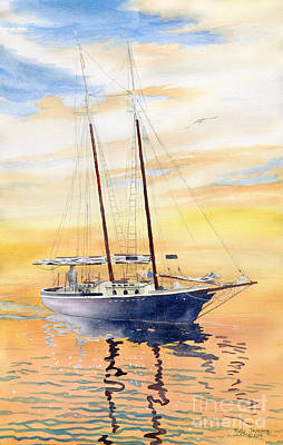 Painting - Sunset Cruise by Melly Terpening