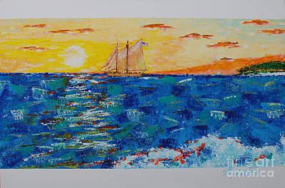 Painting - Sunset Cruise  by Art Mantia