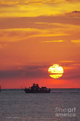 Sunset Cruise Art Print