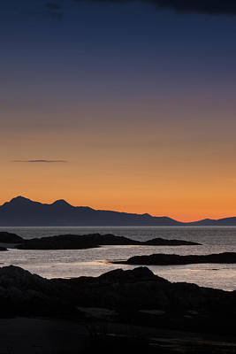 Photograph - Sunset Pictures Cuillin Mountains Isle Of Skye by Alex Saunders