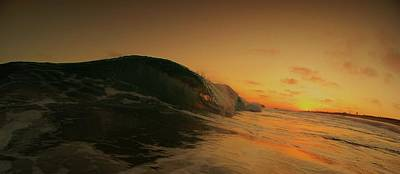 Sunset Curl Art Print by Daniel Rainey