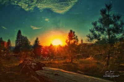 Sunset Art Print by Dan Quam