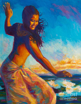 Hawaii Hula Dancer Painting - Sunset Dancer by Isa Maria