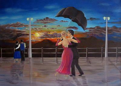 Sunset Dancing Original by Magda De Lange