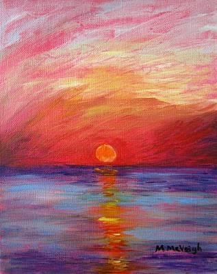 Sunset Delaware Bay Original by Marita McVeigh