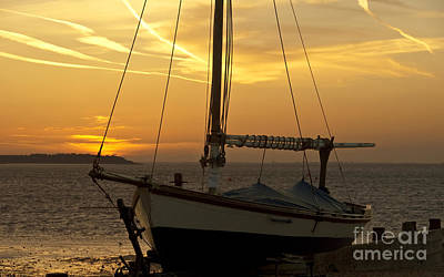 Photograph - Sunset Dinghy by James Lavott