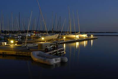 Photograph - Sunset Dock by Charles Beeler