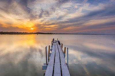 Photograph - Sunset Dock by Peter Tellone